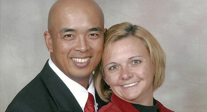 David Cajiuat and his wife