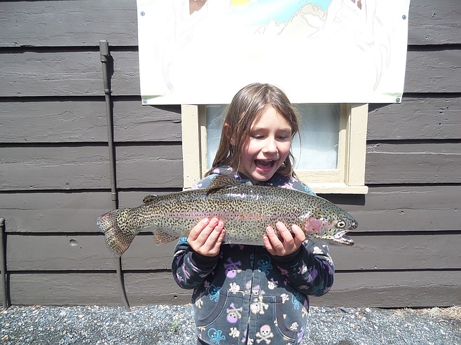 Fish report 8 year old isabelle pardee of city heights for Lake pardee fishing report
