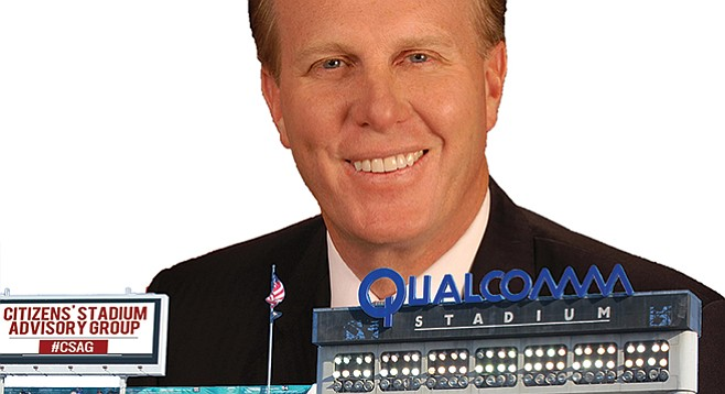 Mayor Kevin Faulconer's stadium task force hasn't yet paid its own Qualcomm bills.