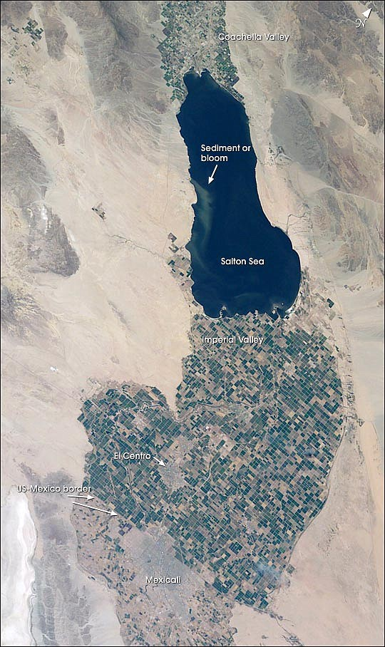 A better view of the amount of agricultural activity south of the Salton