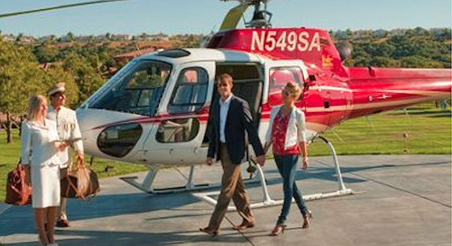 The Grand del Mar's helicopter landing pad — built without a permit