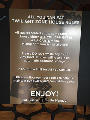 Every all-you-can-eat meal should have rules
