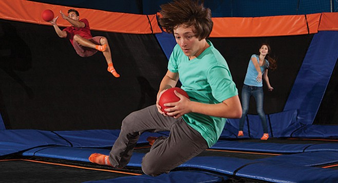 Dodgeball at Sky Zone