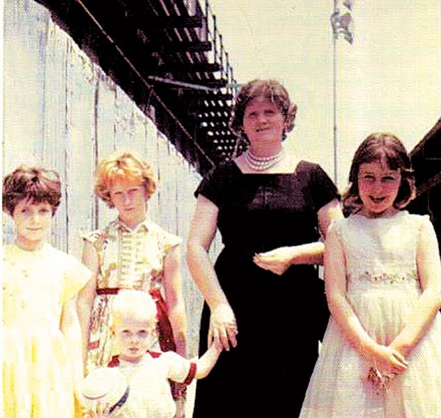 Eileen Feely, second from the left, immigrated from Ireland at six years old.