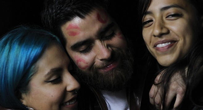 David kissy face