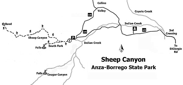 Map to Sheep Canyon