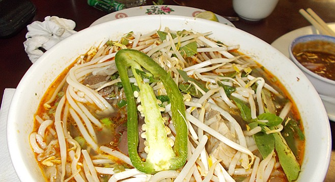 "Bun bo hue ""The seeds,"" says Phuong. ""Very hot."""