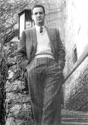 "The author, Bill Murray, in Italy, 1948. ""Janet was commenting on my writing in letters to my mother, that she was encouraging in notes to me. So in that sense, she was what a father should be to a son."""