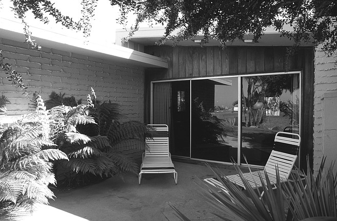 Clara's room at the Bahia hotel.  In 1960, Life magazine published a photo of Clara, seated at the Bahia below her father's portrait.