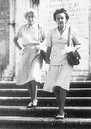 Janet Flanner and Natalia Danesi Murray in Rome, c. 1950