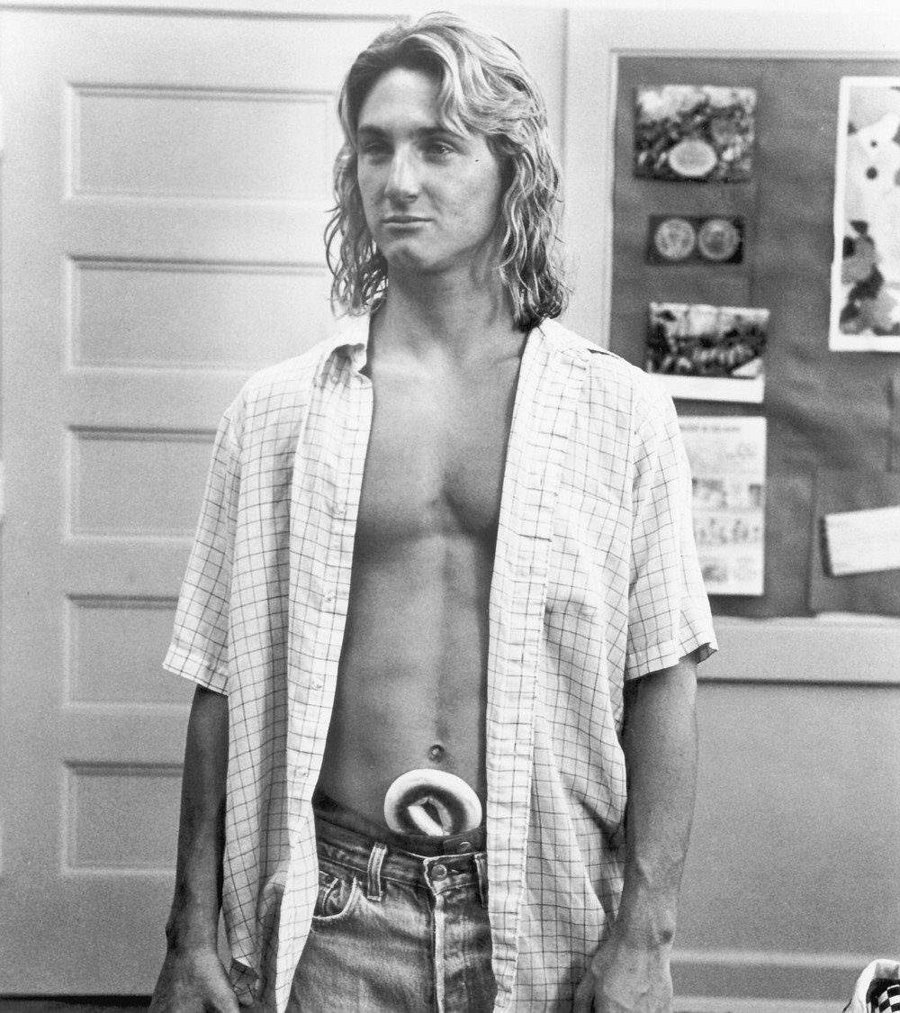 Sean Penn as Jeff Spicoli in Fast Times at Ridgemont High. Cameron wrote this, a youth-demographic pile of pulp which few people in L.A. ever seriously considered a work of non-fiction.