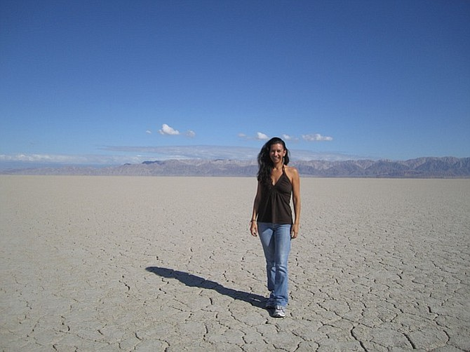 The author on Baja Norte's dry Laguna Salada.
