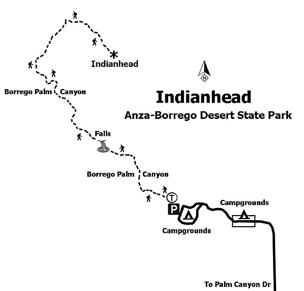 Map to Indianhead