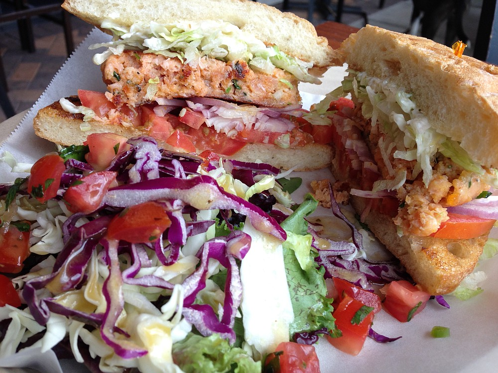 Salmon burger succeeds by not making me wish it were beef