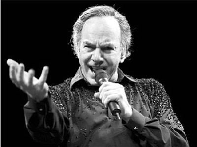 Canada Man: the baritoned bard Neil Diamond will hold sway over Valley View on Friday!