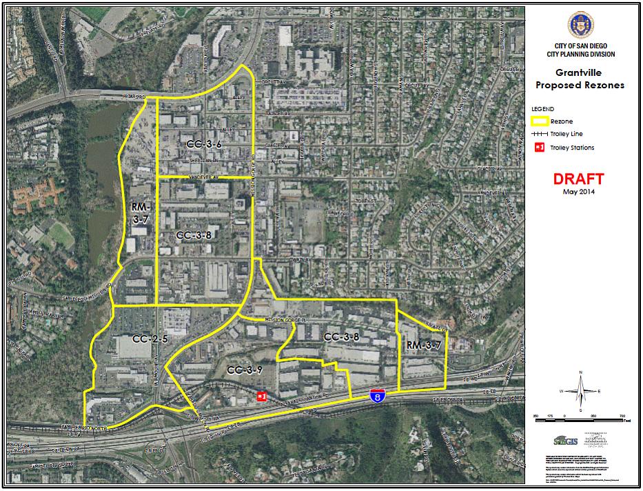 Rezone map of Grantville