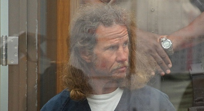 Bruce Hunt in court 2 years ago. Photo Weatherston