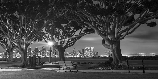 Harbor Island Park on the San Diego Bay.