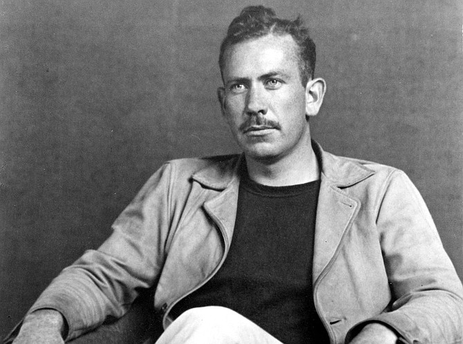 "John Steinbeck, father of John Steinbeck IV.  ""My brother and I, we talked with him a lot about things, languages and history and cultures and customs. We traveled around the world with him."""