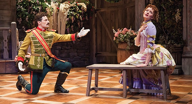 Shaw's Arms and the Man, now at the Globe, is a romantic comedy about soldiers in love and war.