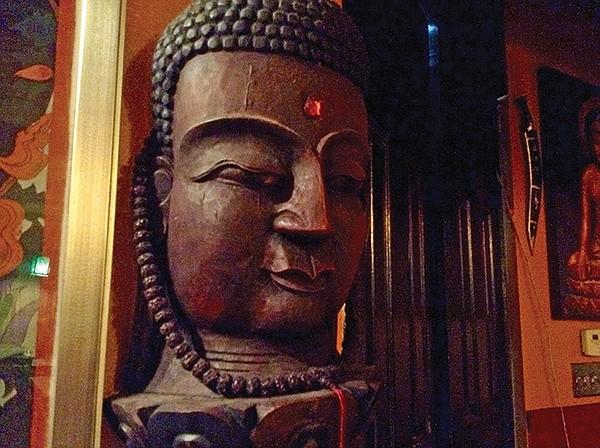 Buddha overlooks the main room