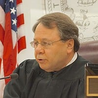 Hon. Judge Michael Smith was remarkably composed. Photo by Weatherston