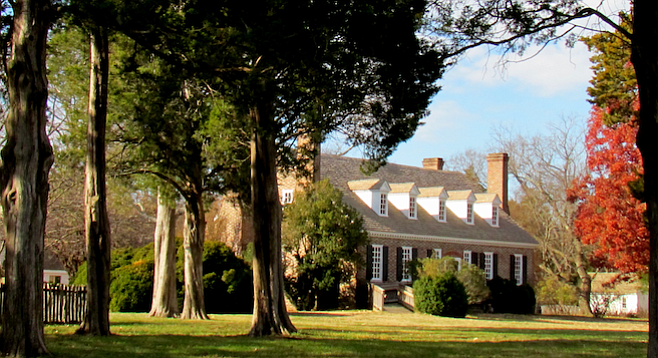 The Washington homestead at northern Virginia's George Washington Birthplace National Monument.