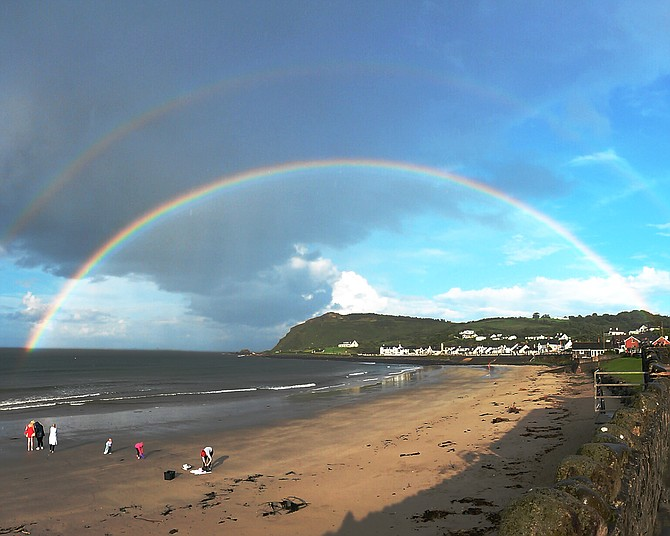 Double Rainbow over Ballygally, Ireland