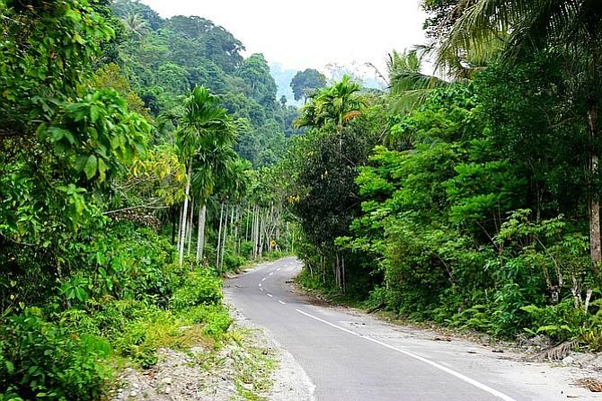 The ride into Sabang village.