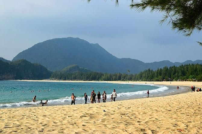 Beach in west Sumatra.