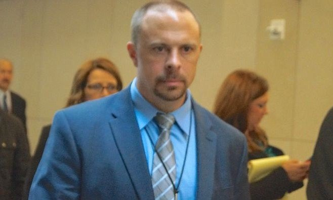 Prosecutor Sean Daugherty leaving court today. Photo by Weatherston