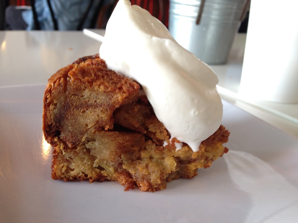 The coffee drinker's dessert: dulce de leche bread pudding