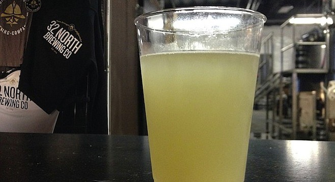Maverick & Gose Key lime gose by 32 North — a sour beer for not yet sour-beer drinkers