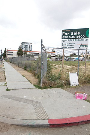 Homeless tents recently cleared out across the street from Pinnacle, which will soon be ready for occupancy.