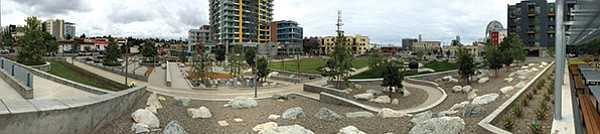 New urban park covering entire block that encompasses the Pinnacle high-rise