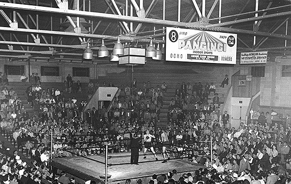 A boxing match at the San Diego Coliseum at 15th and E Street