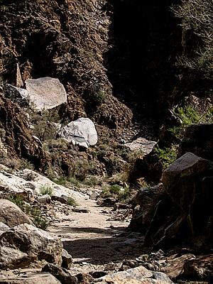 Boulders within metamorphic rock