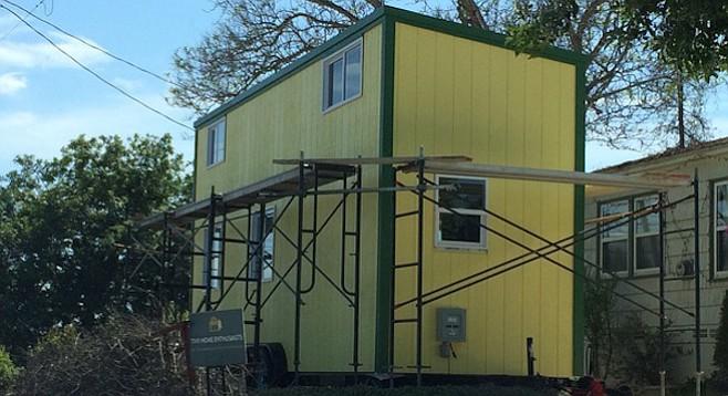 Danielle Drummond's tiny house (on wheels) in Lemon Grove