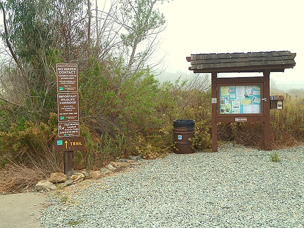 Start of the Del Dios trail
