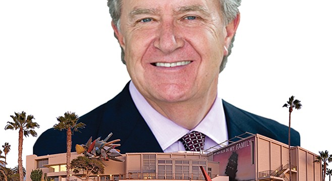 No starving artist: Hugh Davies's executive job at La Jolla's Museum of Contemporary Art San Diego earned him $439,735 during the last fiscal year.