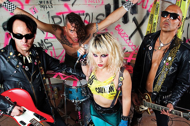 Soda Bar sets up punk-n-roll four-piece Barb Wire Dolls on Saturday!