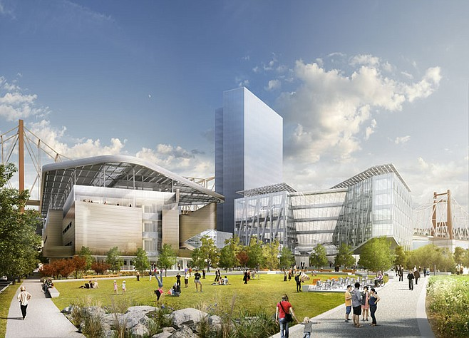 Artist's rendering of Cornell campus project