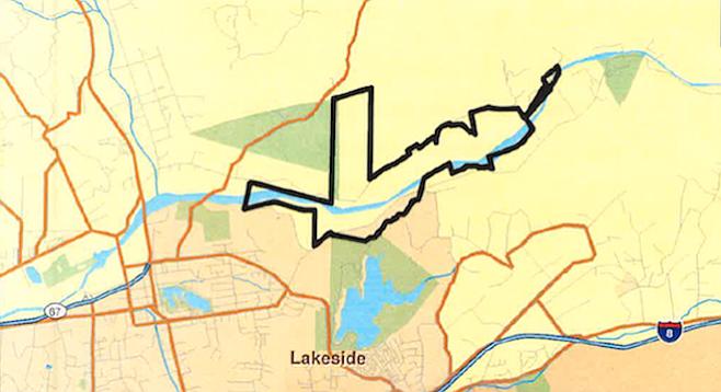 Area of proposed sand mine