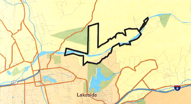 Area of proposed sand mine