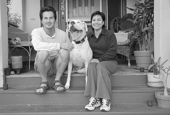 Diep Huynh and Linda Kotcher with Casso. When he and Kotcher have paid off their education debts, he said, they are leaving for Los Angeles.