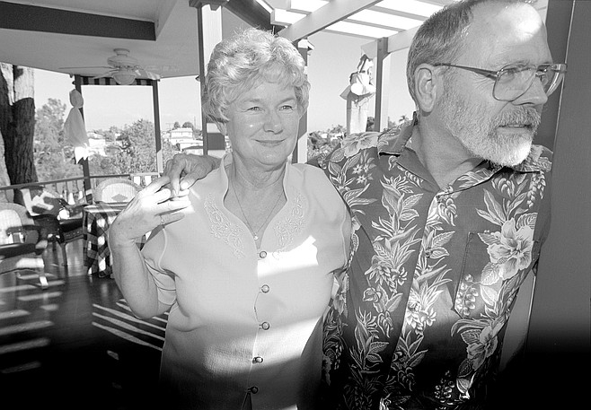 Paul & Carol Brown own Canyon House, a bed-and-breakfast and the oldest building on Olive Street.