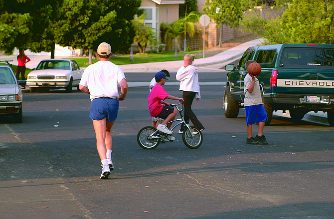 Kids at play in Sabre Springs, a block away from the van Dam home - Image by Joe Klein