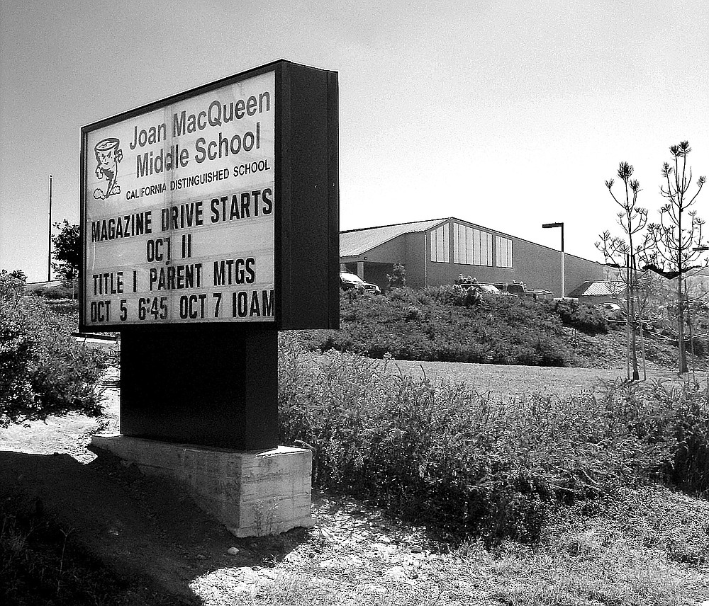 Joan MacQueen Middle School.  After middle school, said Superintendant Ryan, most Alpine kids move on to either Granite Hills High School in El Cajon or to Steele Canyon High School in Spring Valley.