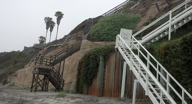 The new Lynch/Frick seawall is coated in a brown concrete to resemble the natural bluff it fortifies