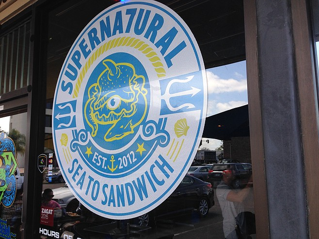 Supernatural Sandwiches storefront, complete with sea monster